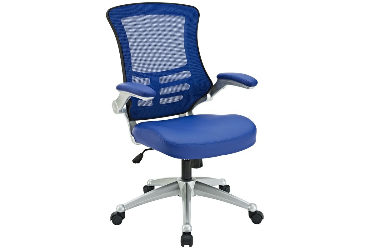 Attainment Office Chair in Blue by Modway from Gardner-White Furniture