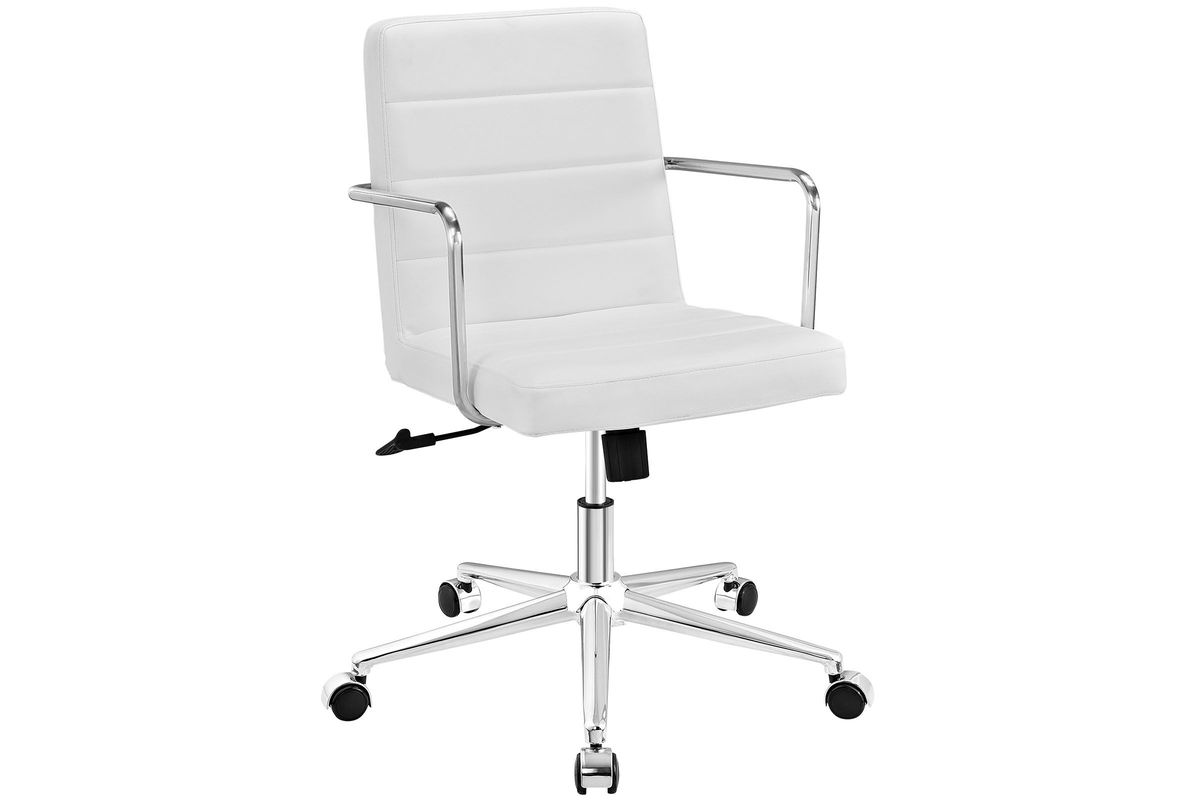 Cavalier Mid Back Office Chair in White by Modway from Gardner-White Furniture