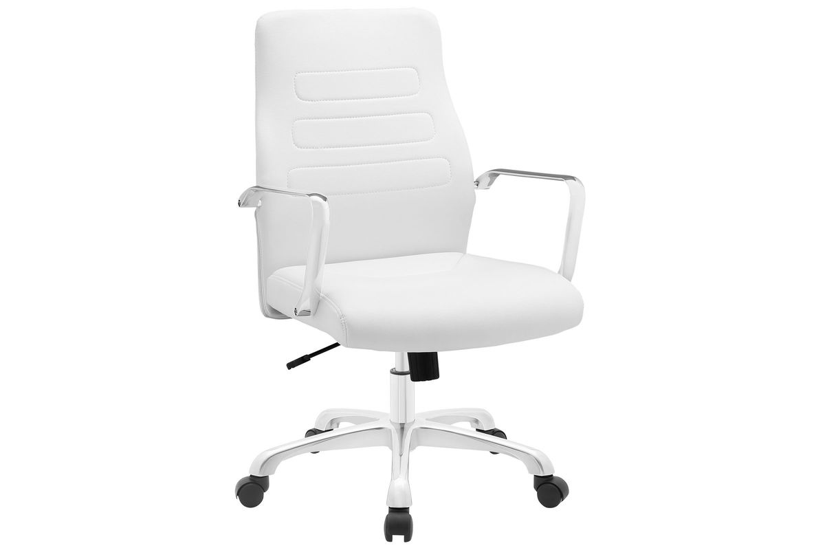 Depict Mid Back Aluminum Office Chair in White by Modway from Gardner-White Furniture
