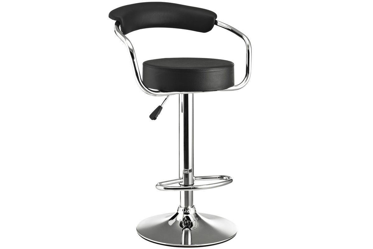 Diner Bar Stool in Black by Modway from Gardner-White Furniture