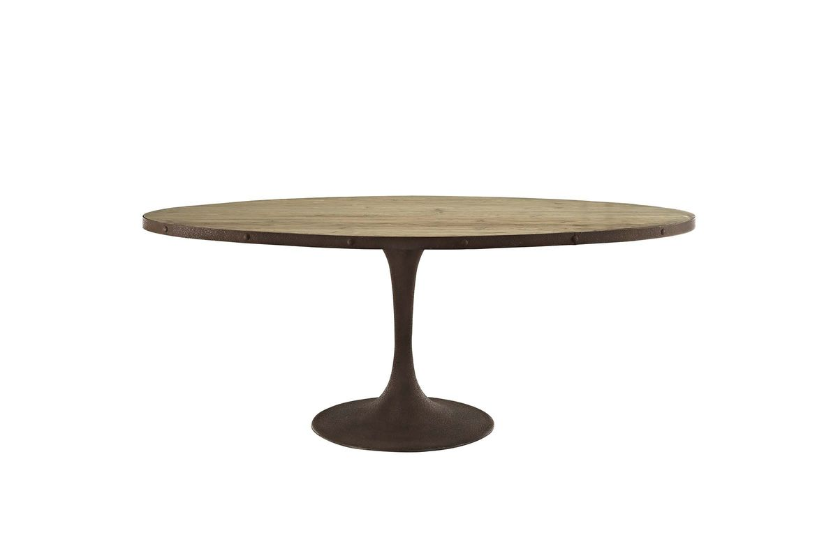 Drive 78 Oval Wood Top Dining Table By Modway