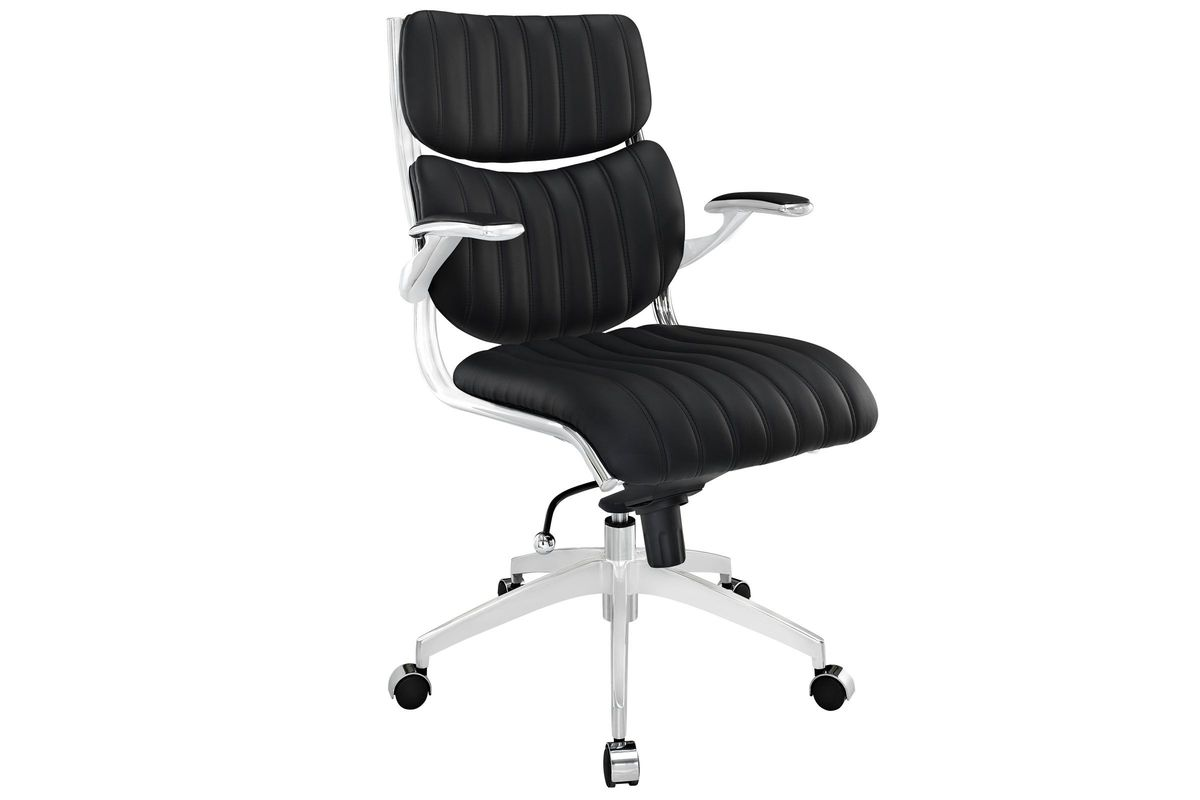 Escape Mid Back Office Chair in Black by Modway from Gardner-White Furniture