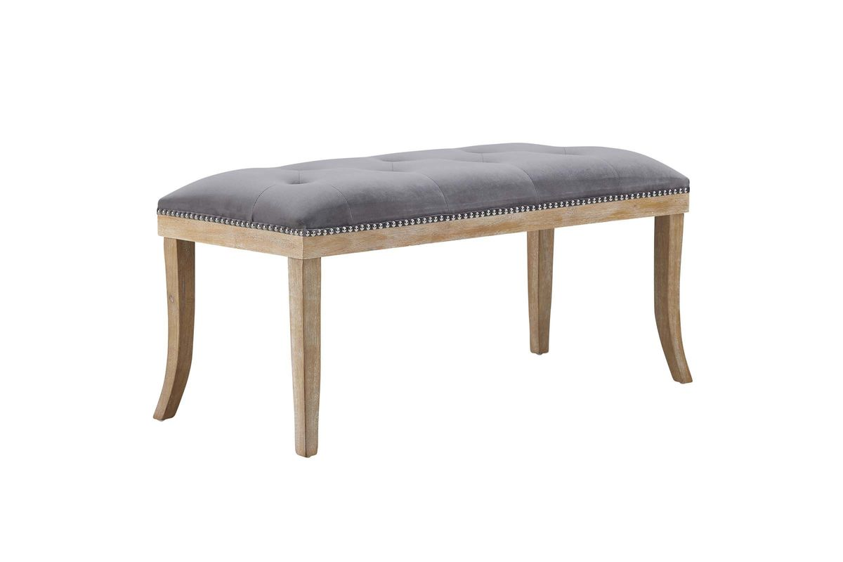 Terrific Expression Upholstered Fabric Bench In Grey By Modway Gmtry Best Dining Table And Chair Ideas Images Gmtryco