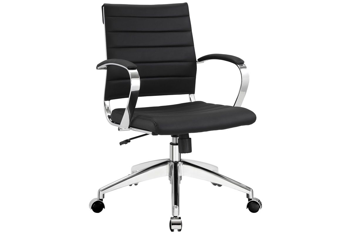 Jive Mid Back Office Chair in Black by Modway from Gardner-White Furniture