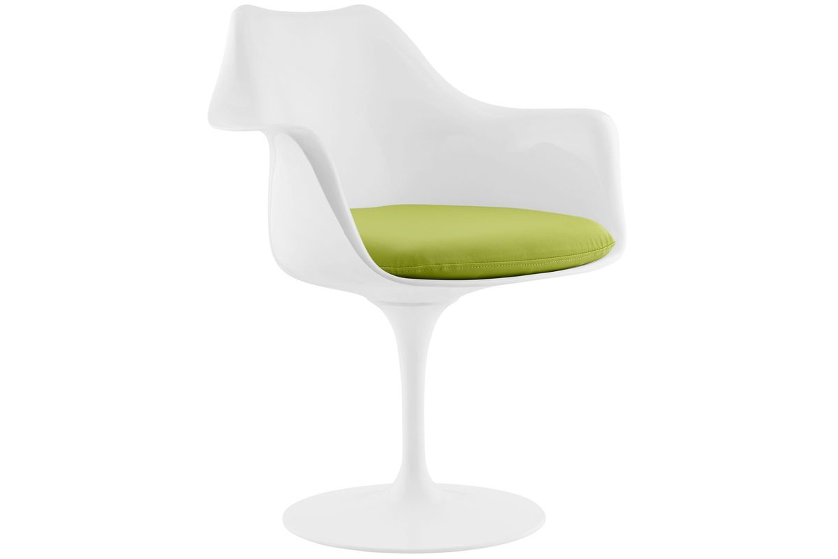 Pleasing Lippa Dining Vinyl Armchair In Green By Modway Dailytribune Chair Design For Home Dailytribuneorg