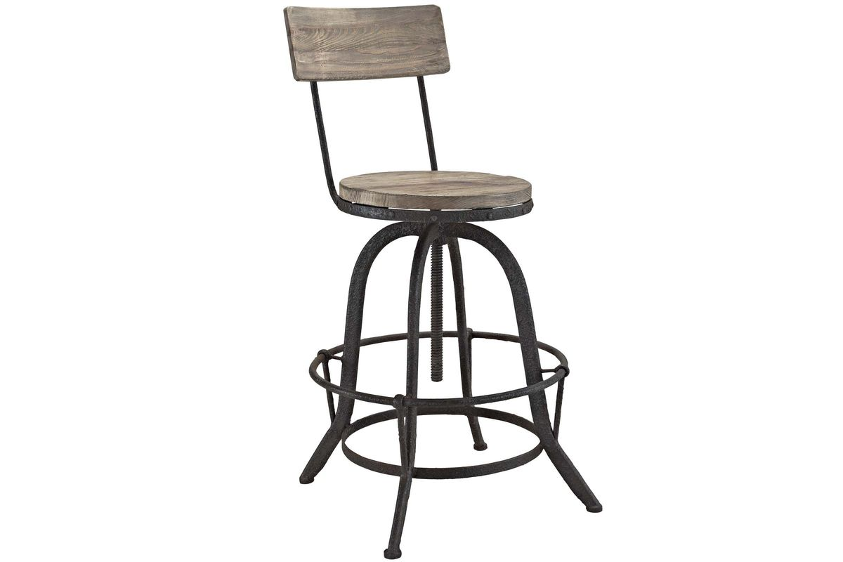 Fine Procure Adjustable Wood Bar Stool In Brown By Modway Evergreenethics Interior Chair Design Evergreenethicsorg