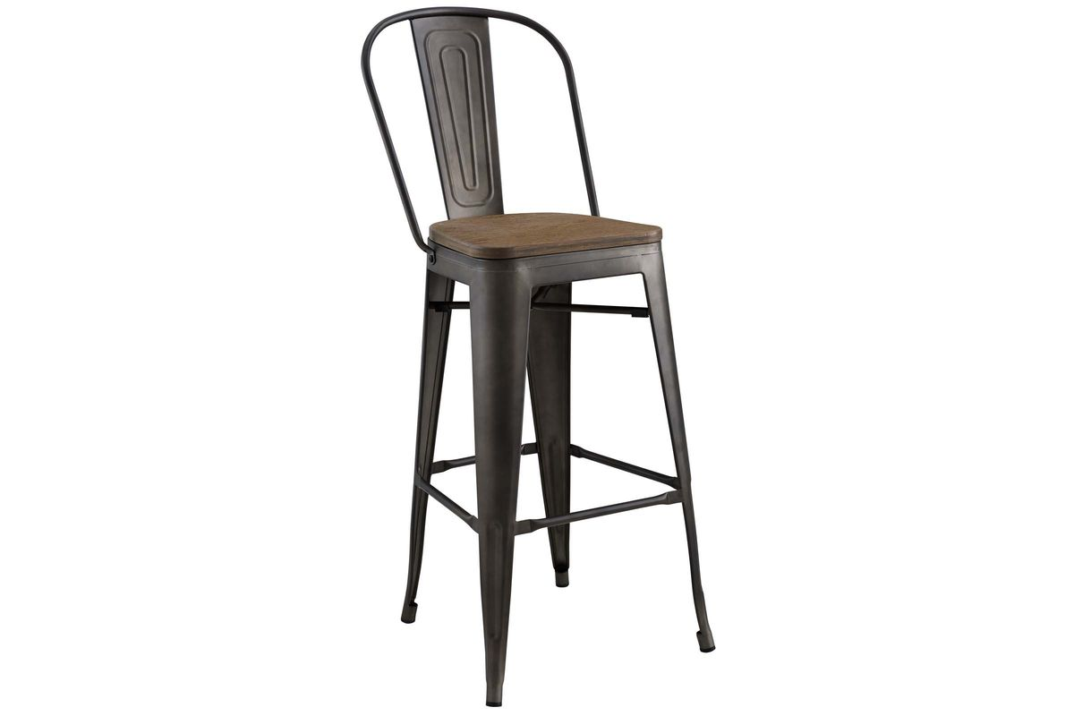 Marvelous Promenade High Back Bar Stool In Brown By Modway Forskolin Free Trial Chair Design Images Forskolin Free Trialorg