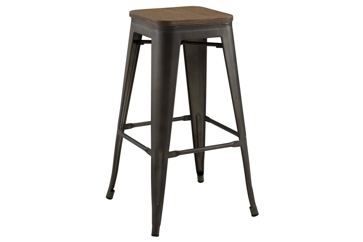 Pleasing Promenade Backless Bar Stool In Brown By Modway Pabps2019 Chair Design Images Pabps2019Com