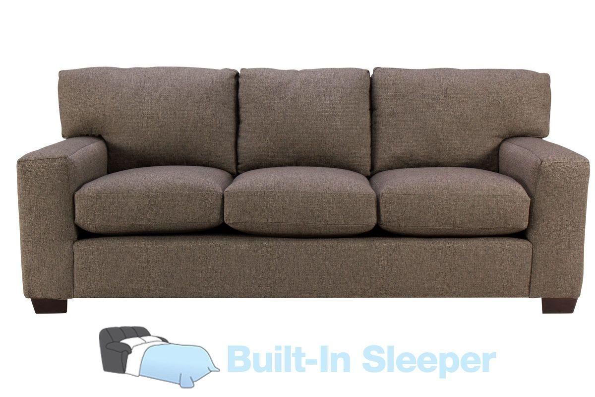 Sandra Sofa Sleeper in Dark Charcoal Grey from Gardner-White Furniture