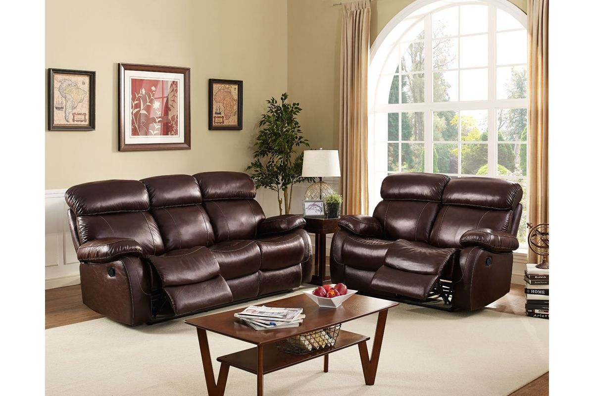 Dante Leather Power Reclining Sofa Amp Loveseat At Gardner White