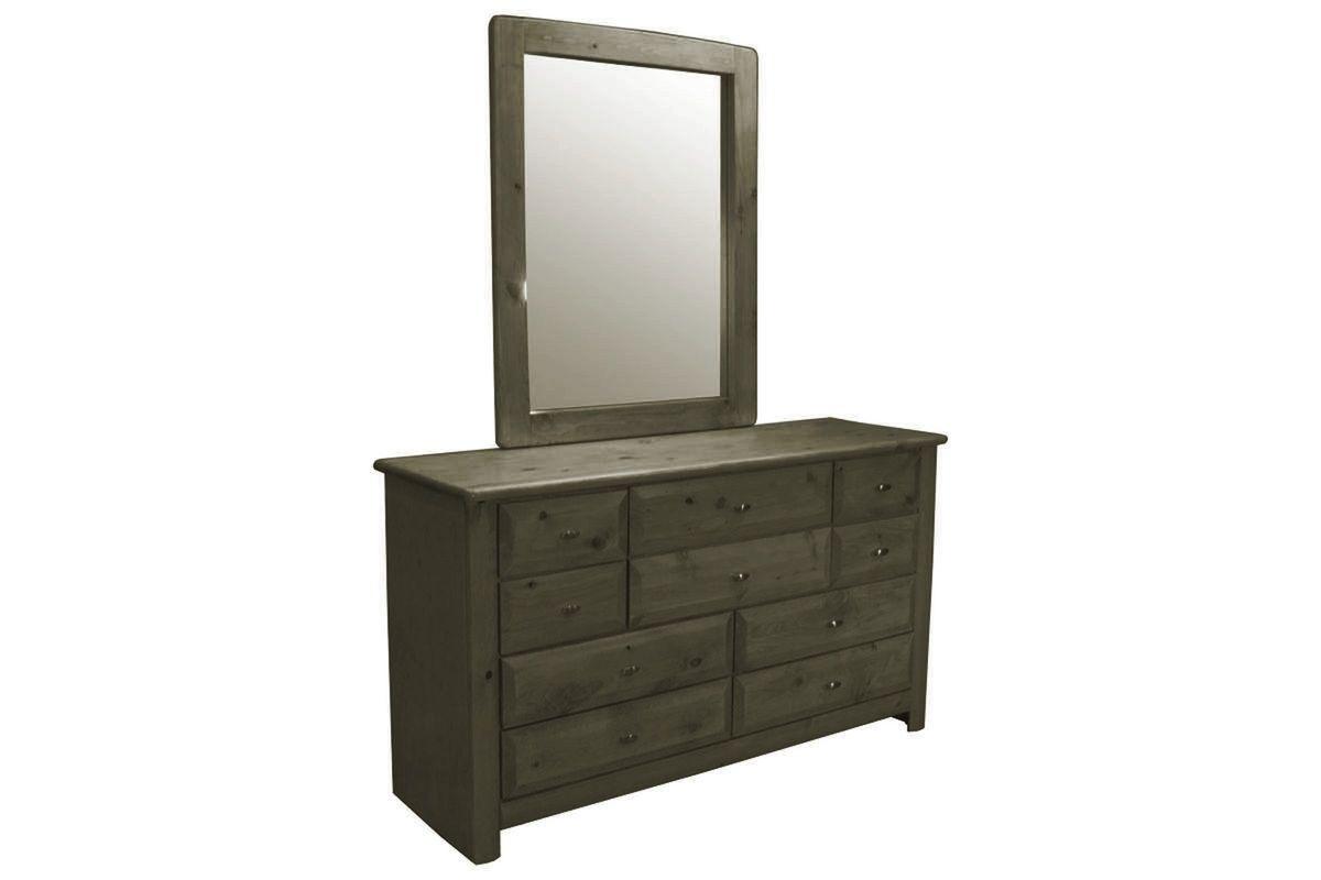 Laguna Grey Dresser + Mirror from Gardner-White Furniture