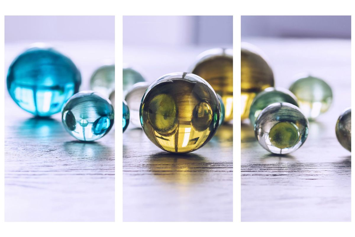 Glass Marbles Wall Art Set of 3 from Gardner-White Furniture
