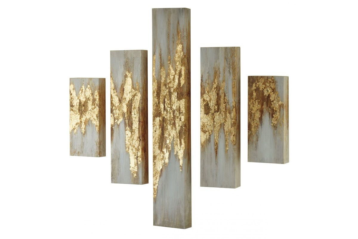 Devlan Wall Art Set of 5 by Ashley from Gardner-White Furniture