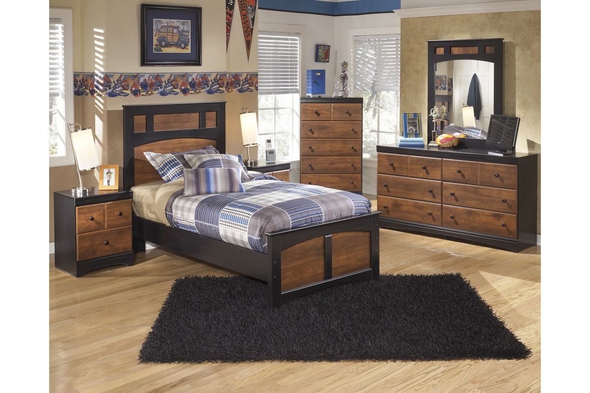 Aimwell Twin Panel Bed by Ashley from Gardner-White Furniture