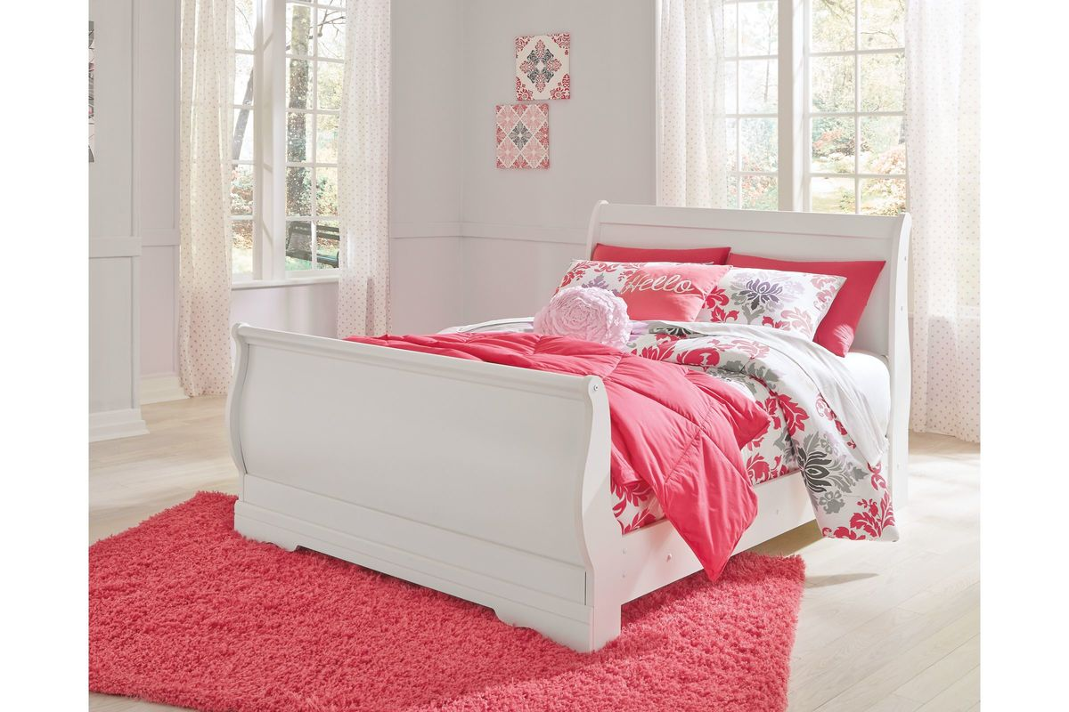 Anarasia Full Sleigh Bed by Ashley from Gardner-White Furniture