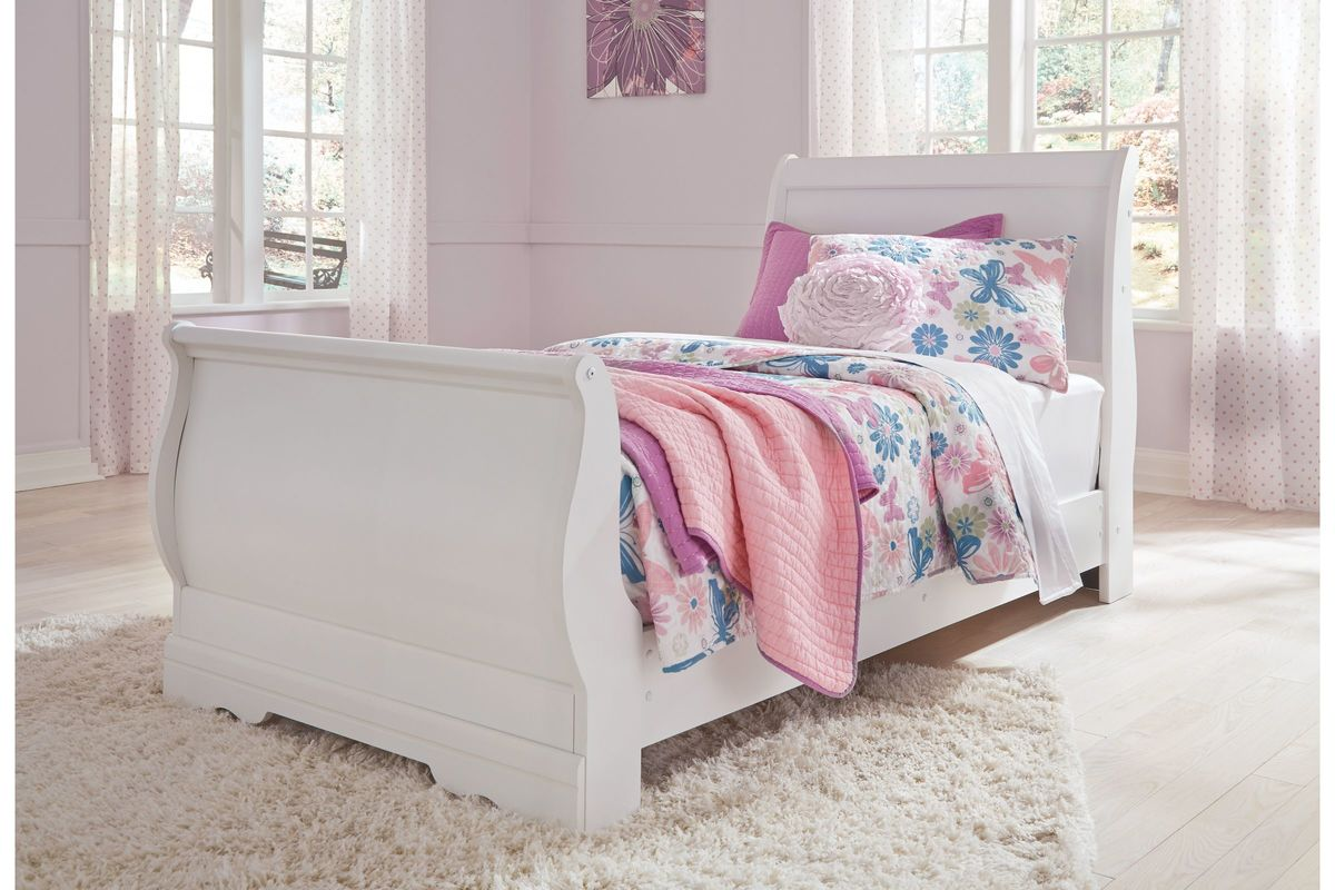 Anarasia Twin Sleigh Bed by Ashley from Gardner-White Furniture