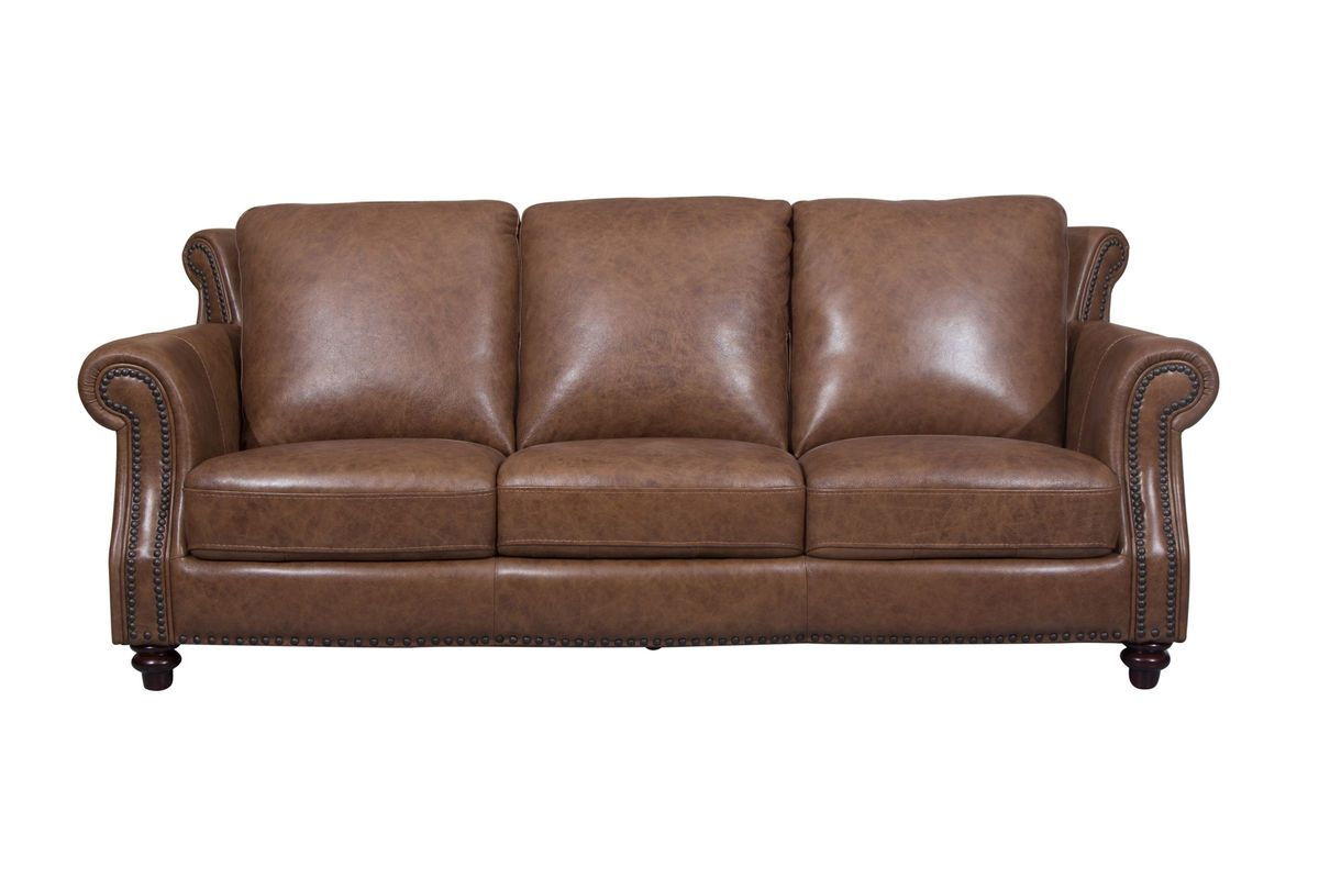 Richmond Leather Sofa from Gardner-White Furniture