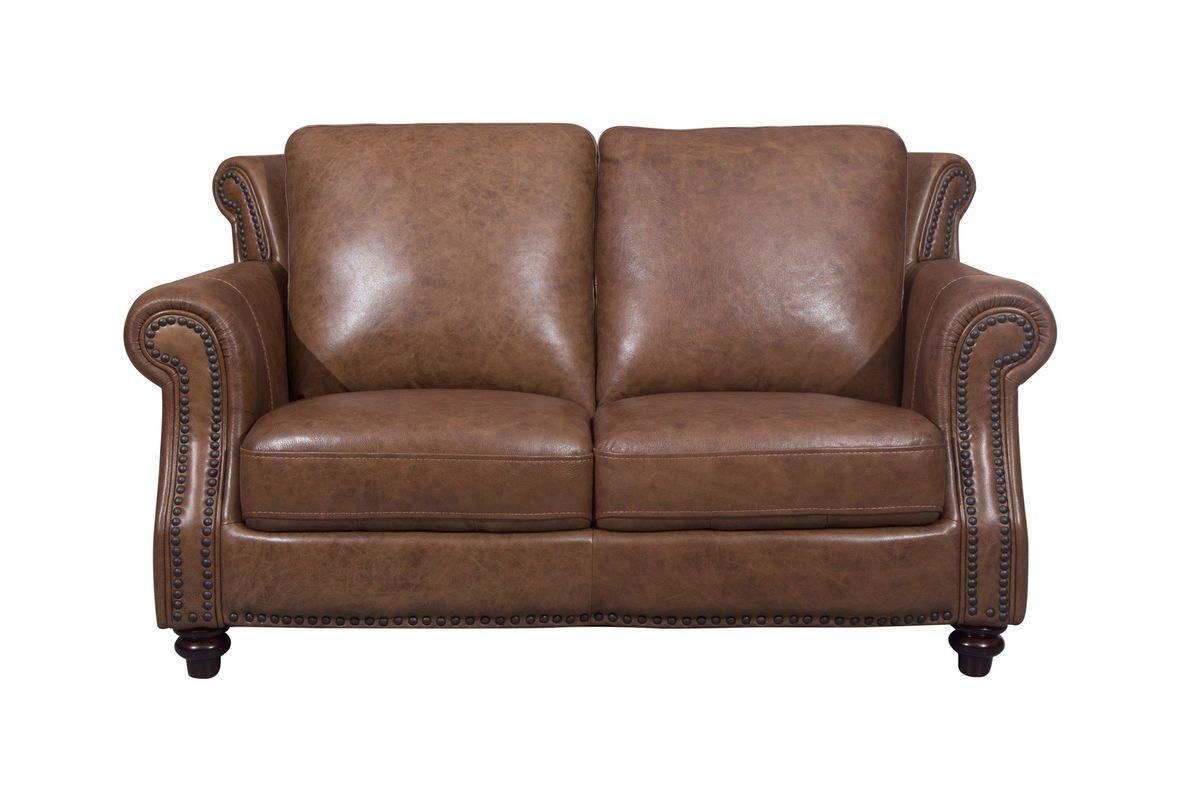Richmond Leather Loveseat from Gardner-White Furniture