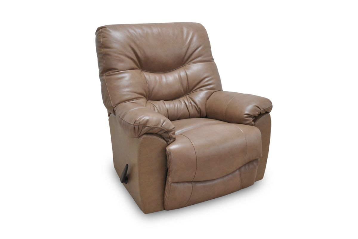 Trilogy Leather Rocker Recliner in Taupe from Gardner-White Furniture