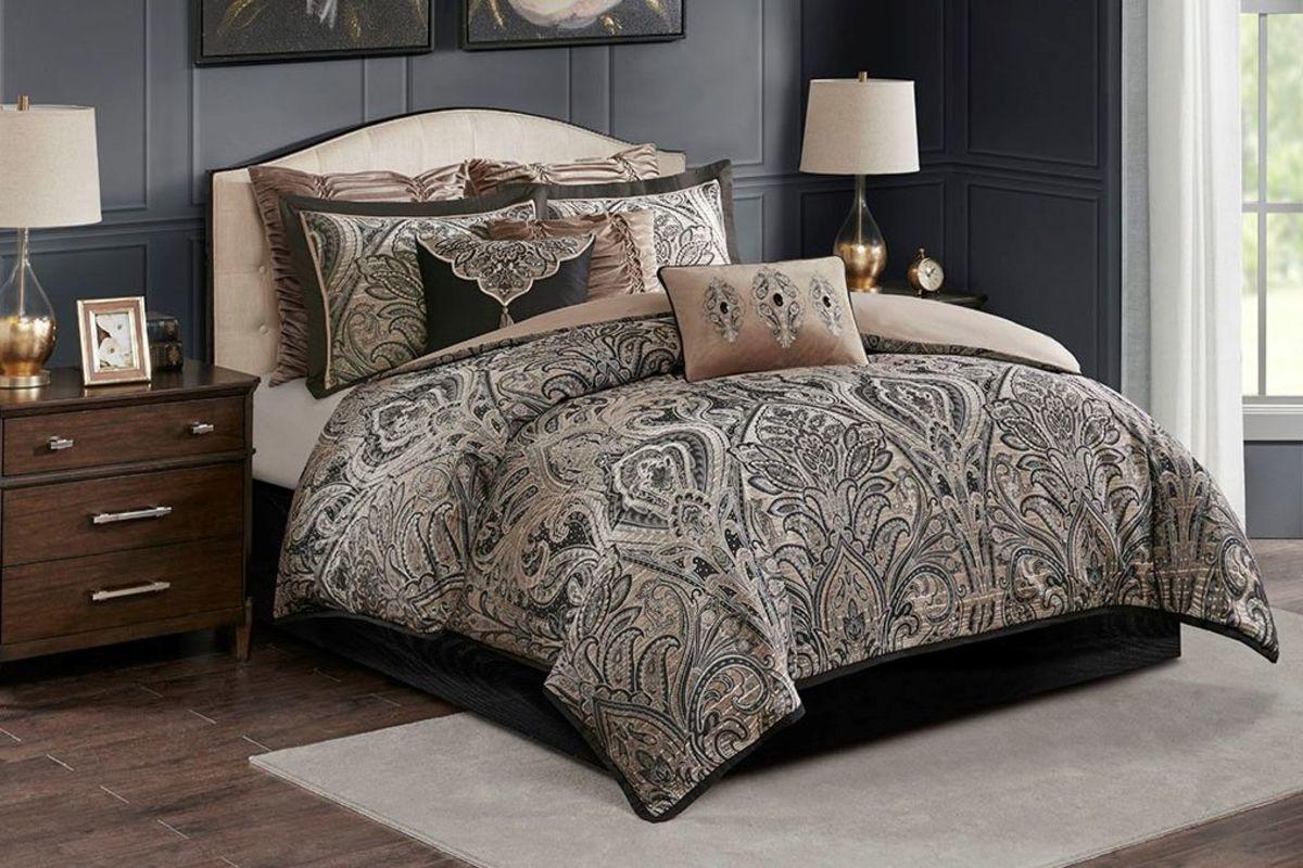 Grand 8-Piece Jacquard Comforter Set from Gardner-White Furniture