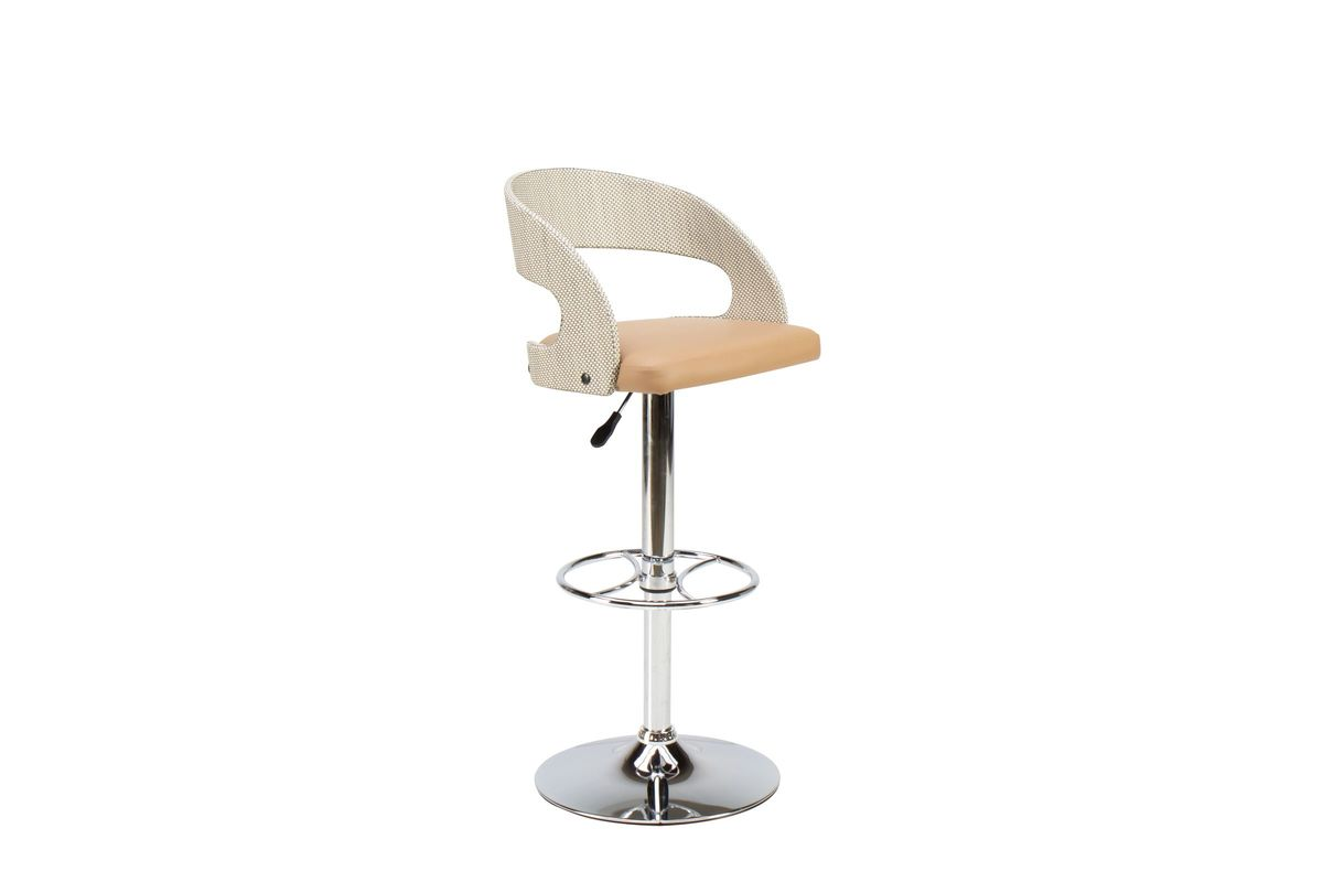 Taupe Curved Pneumatic Bar Stool from Gardner-White Furniture