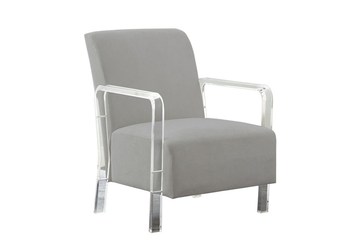 Tyra Arm Chair in Grey from Gardner-White Furniture