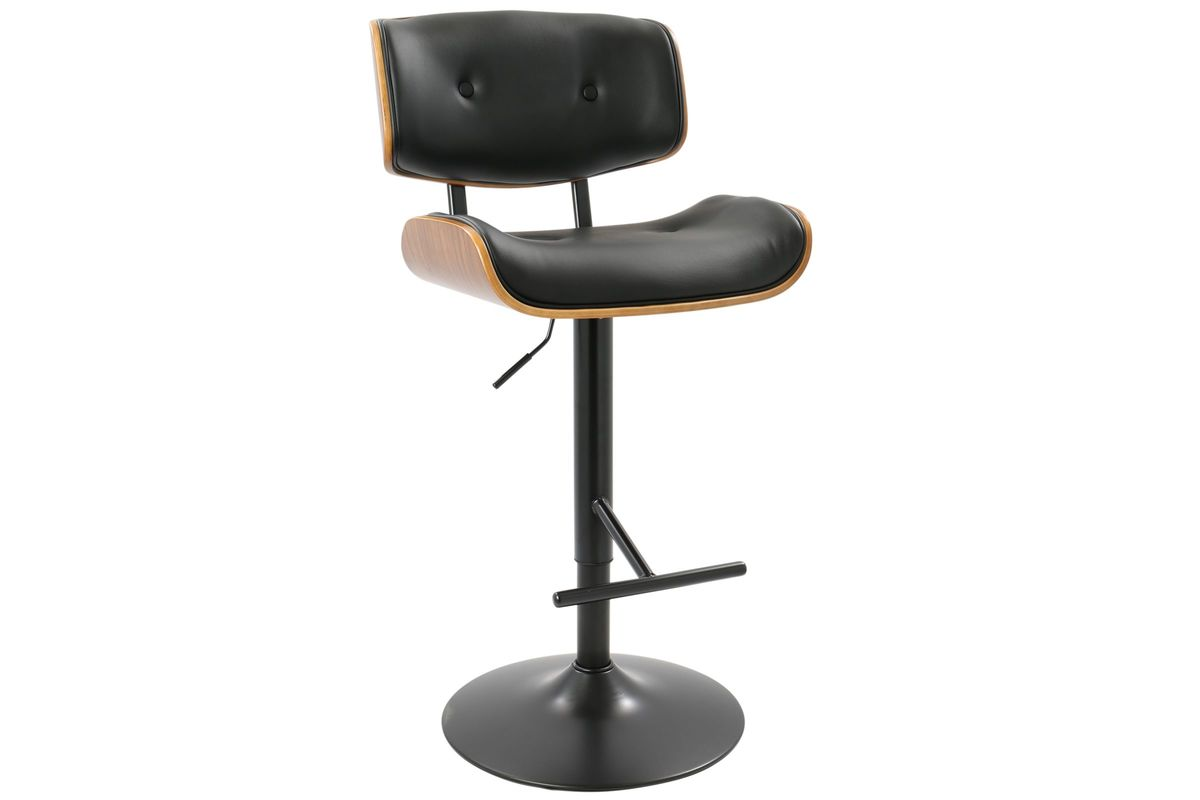 d883b4d92974 Lombardi Mid-Century Modern Adjustable Barstool in Black by LumiSource from  Gardner-White Furniture