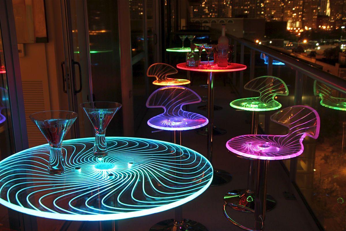 Spyra 3-Piece Light Up Bar Set by LumiSource from Gardner-White Furniture