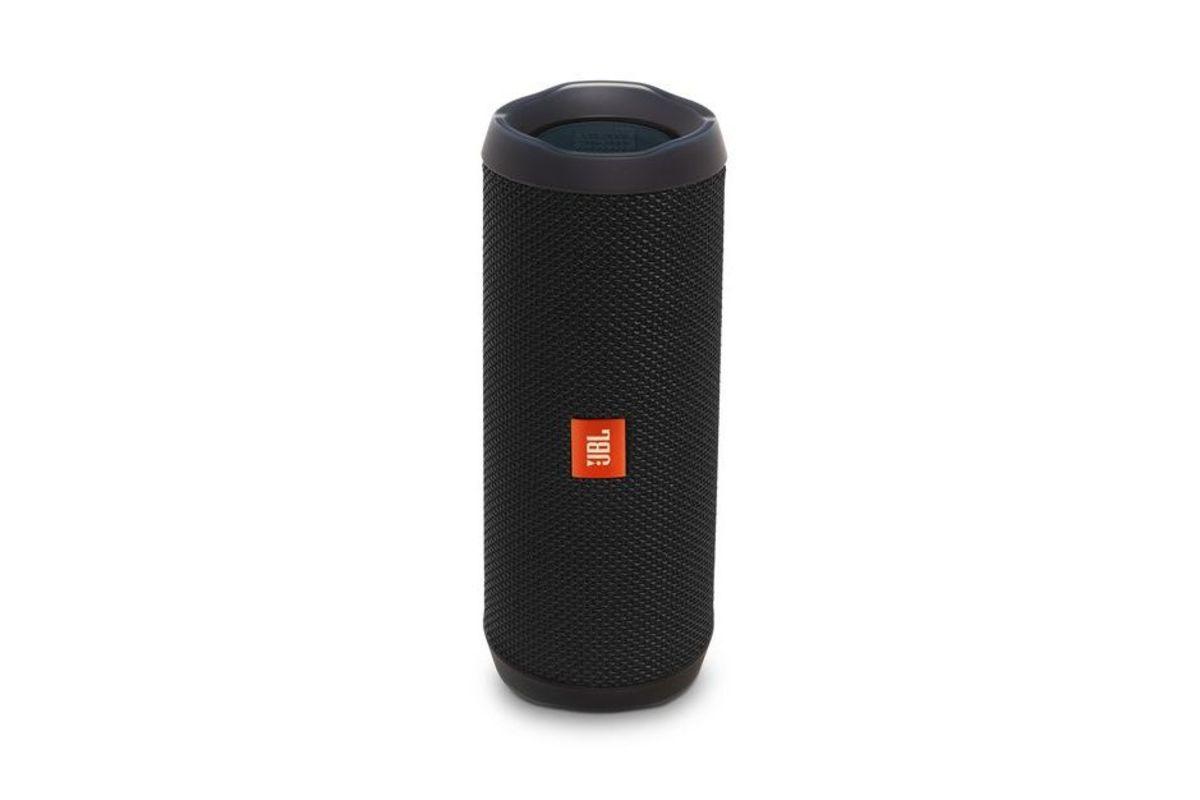 JBL Flip 4 Portable Wireless Speaker in Black from Gardner-White Furniture