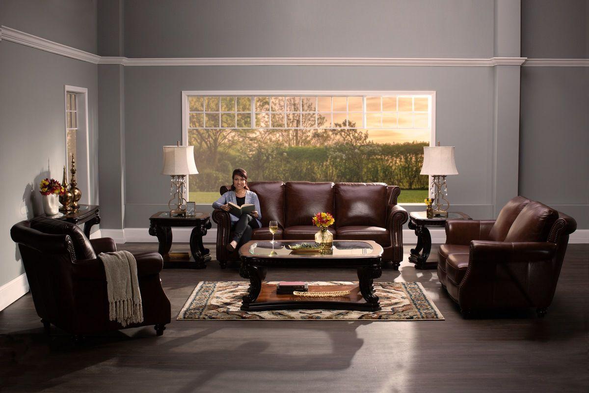 Richmond Leather Sofa At Gardner-White