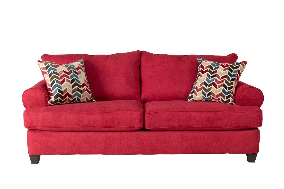 Red Chenille Sofa | Best House Design