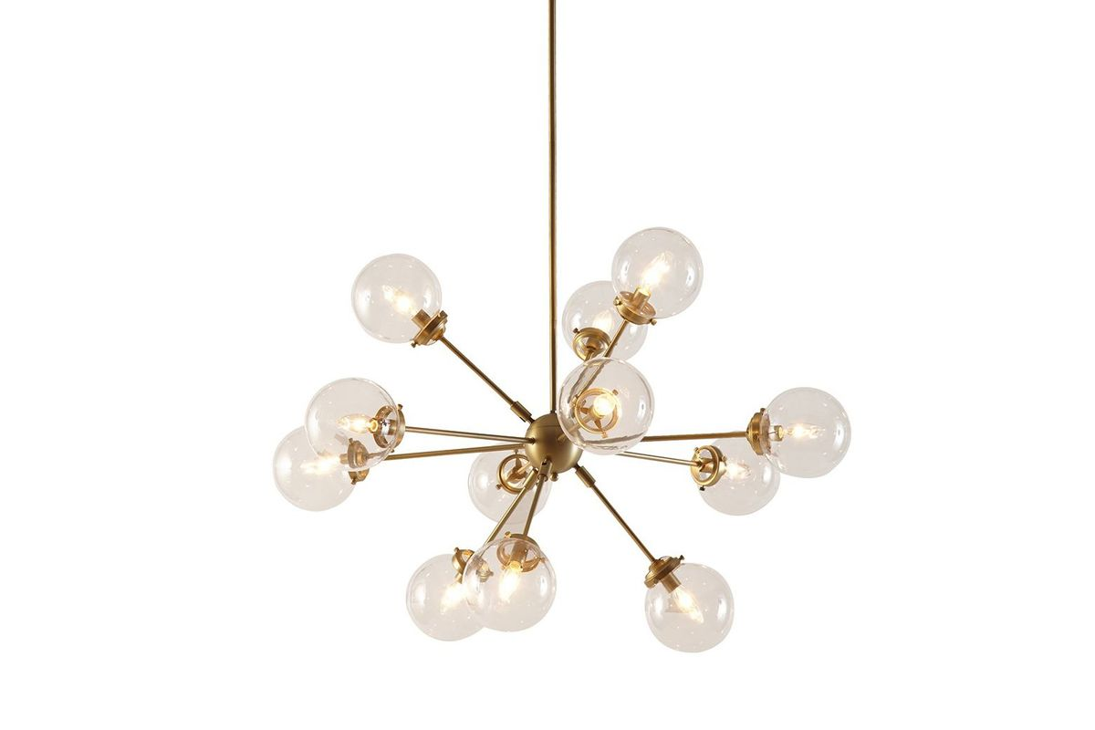 Paige Gold Chandelier by INK+IVY from Gardner-White Furniture