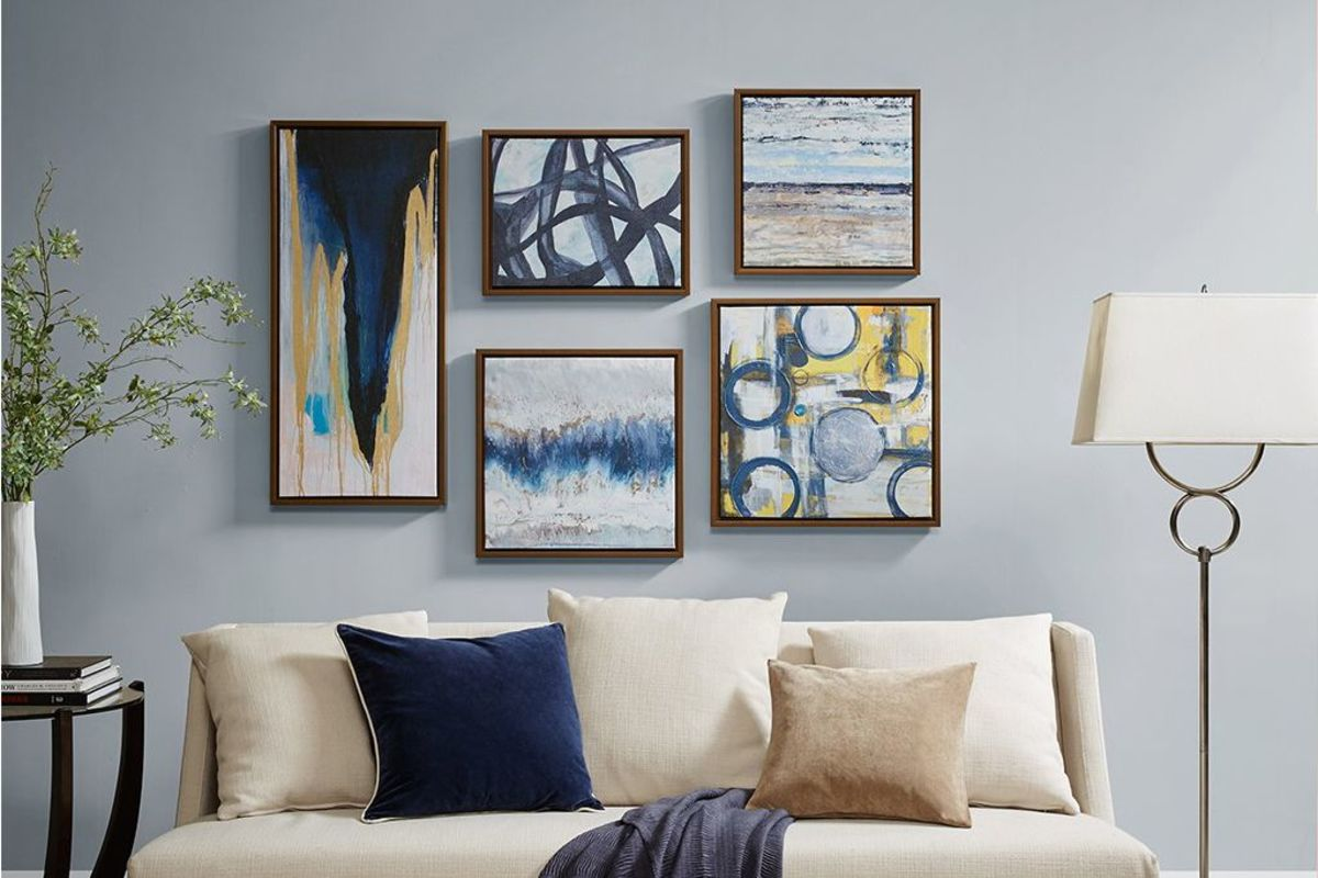 Blue Bliss Gallery Art 5 Piece Set by Madison Park from Gardner-White Furniture