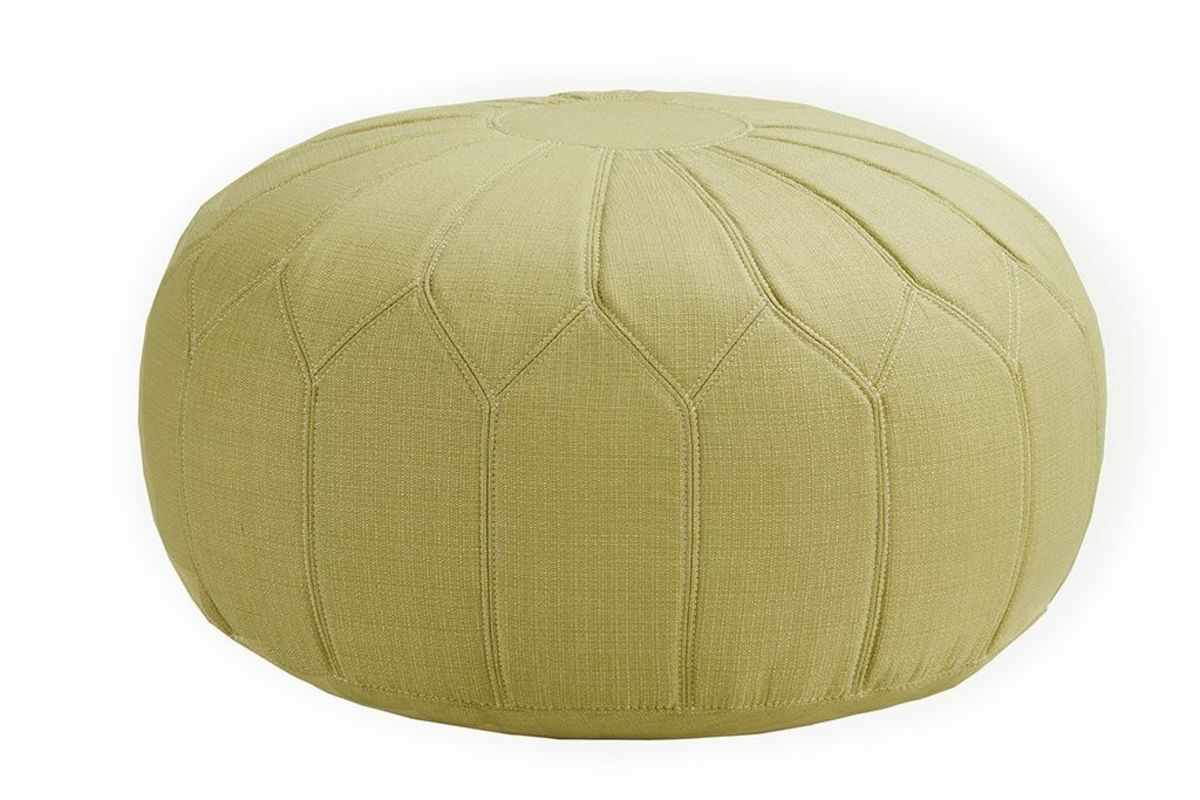 Prime Kelsey Round Pouf Ottoman In Green By Madison Park Evergreenethics Interior Chair Design Evergreenethicsorg