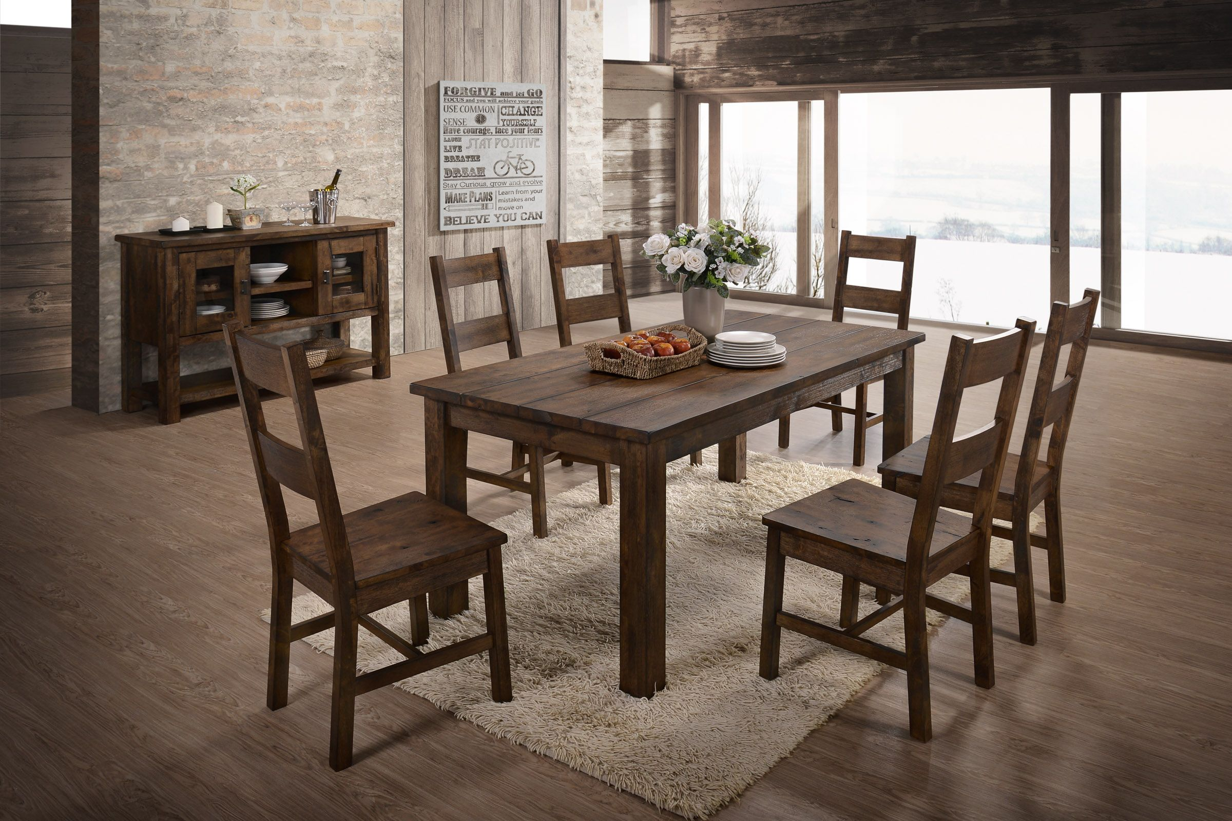 Glenview Dining Table 6 Side Chairs