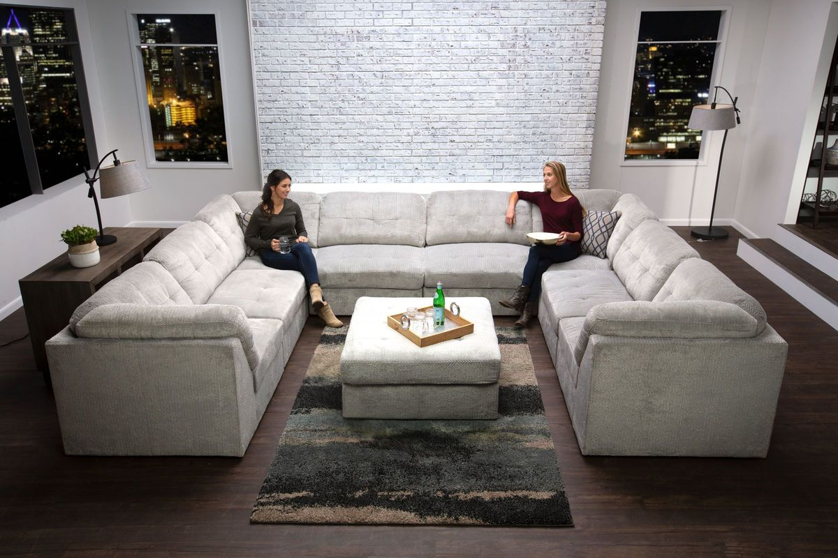 Granada 8-Piece Sectional + Ottoman from Gardner-White Furniture