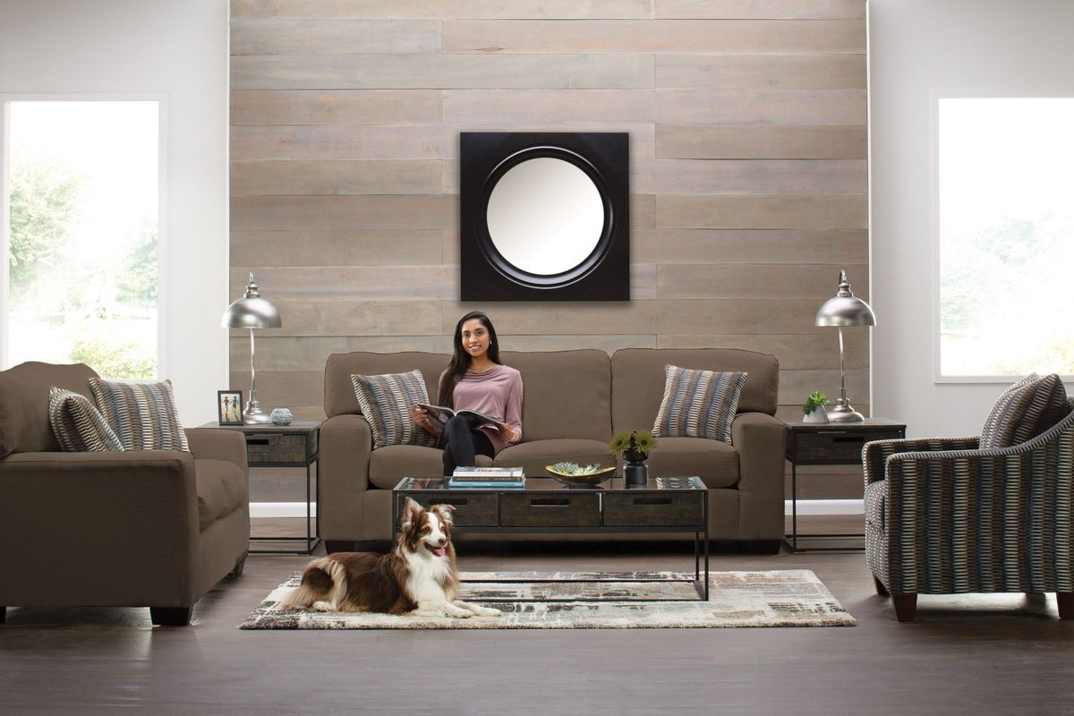 Sandra 7-Piece Big Picture Package in Dark Charcoal Grey with 50