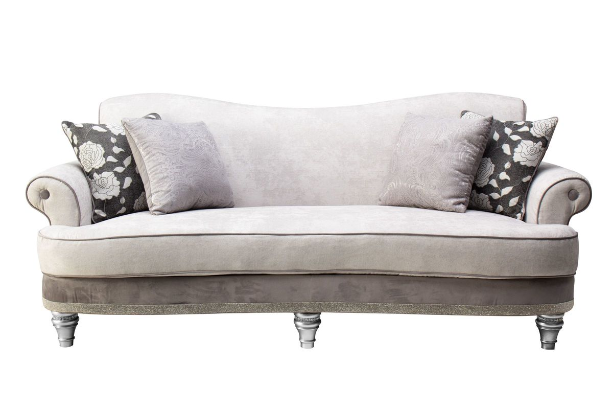 Quain Chenille Sofa with Crystallized Accents from Gardner-White Furniture