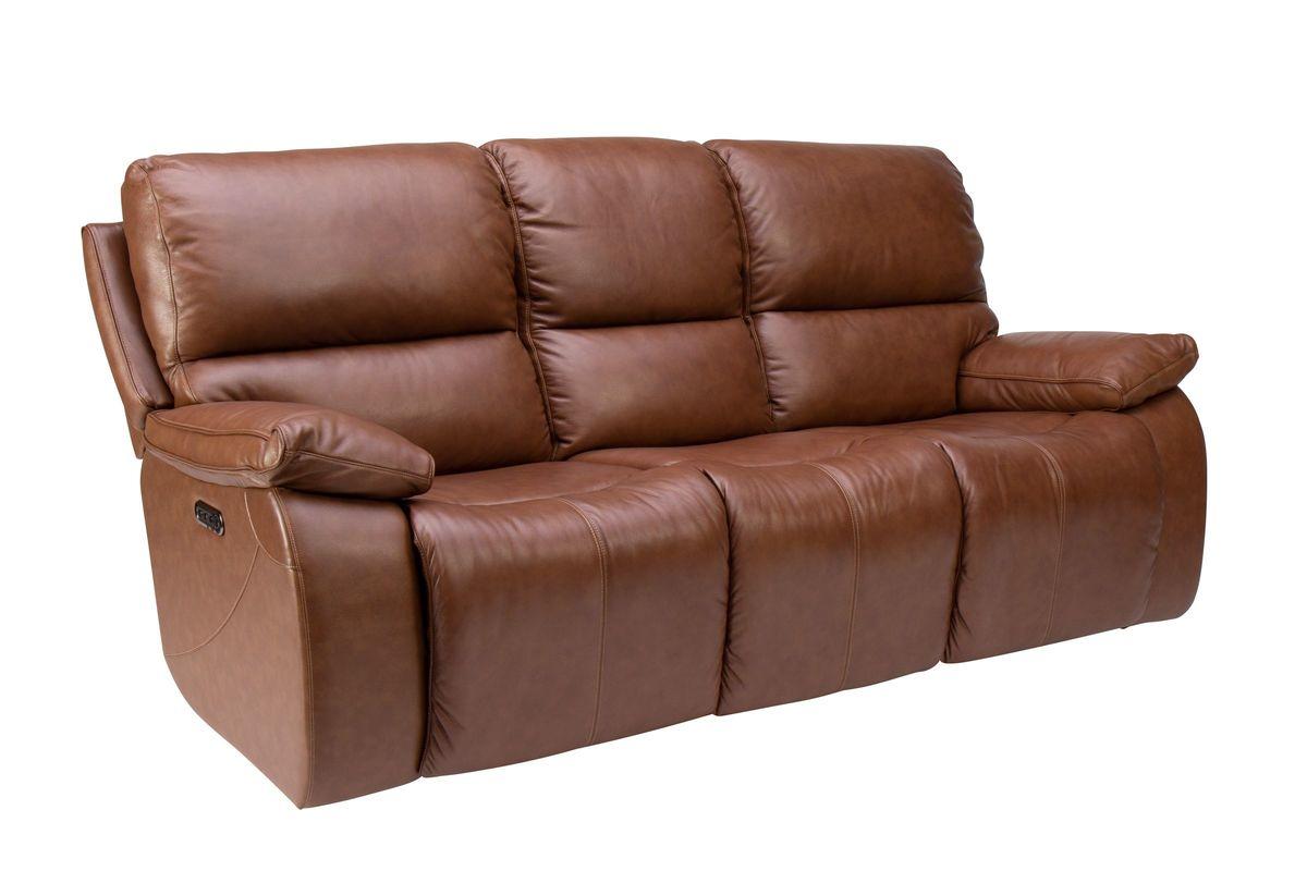 Mustang Triple Power Leather Reclining Sofa At Gardner White