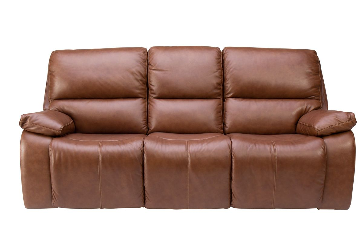 Mustang Triple Power Leather Reclining Sofa