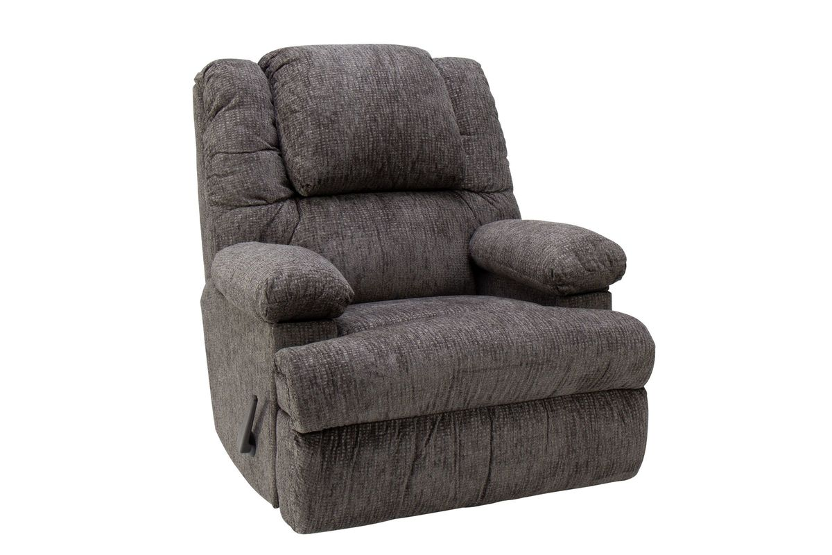 Clayton Graphite Rocker Recliner with Qi Charger from Gardner-White Furniture