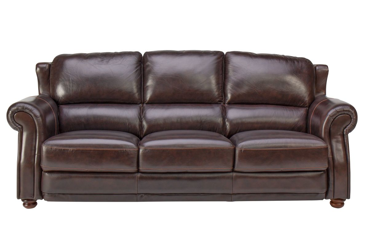 Brownstone Leather Sofa from Gardner-White Furniture