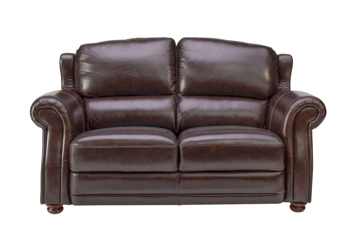 Brownstone Leather Loveseat from Gardner-White Furniture