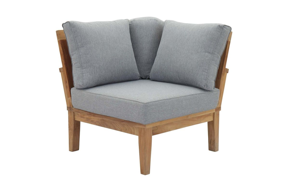 Marina Outdoor Patio Premium Grade A Teak Wood Corner Sofa by Modway from Gardner-White Furniture