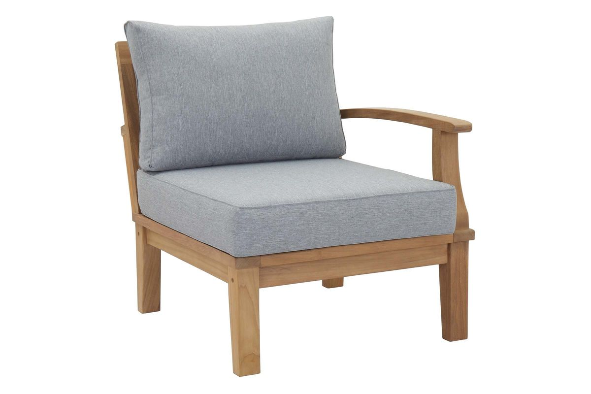 Marina Outdoor Patio Premium Grade A Teak Wood Right-Facing Sofa by Modway from Gardner-White Furniture