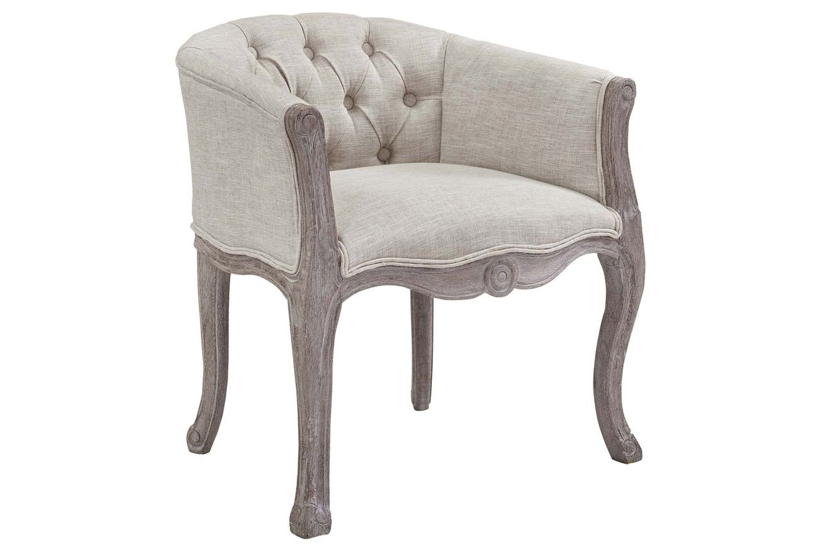 Crown Vintage French Upholstered Fabric Dining Armchair by Modway from Gardner-White Furniture