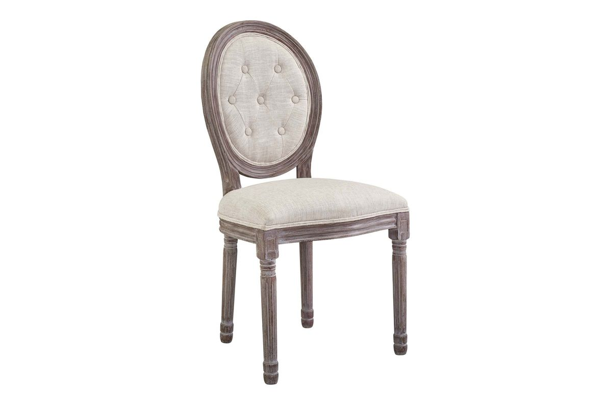 Arise Vintage French Upholstered Fabric Dining Side Chair in Grey by Modway from Gardner-White Furniture