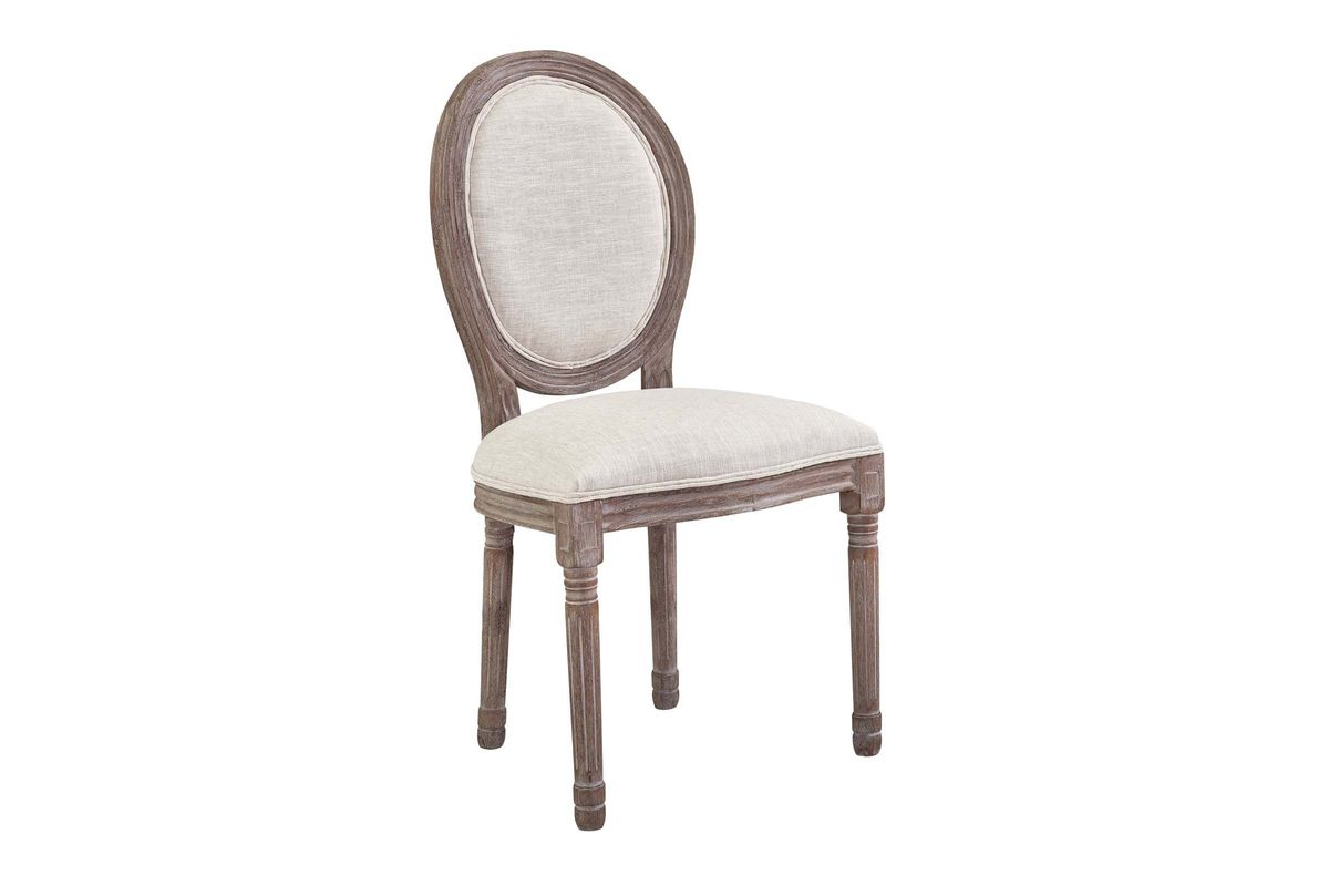 Emanate Vintage French Upholstered Fabric Dining Side Chair by Modway from Gardner-White Furniture
