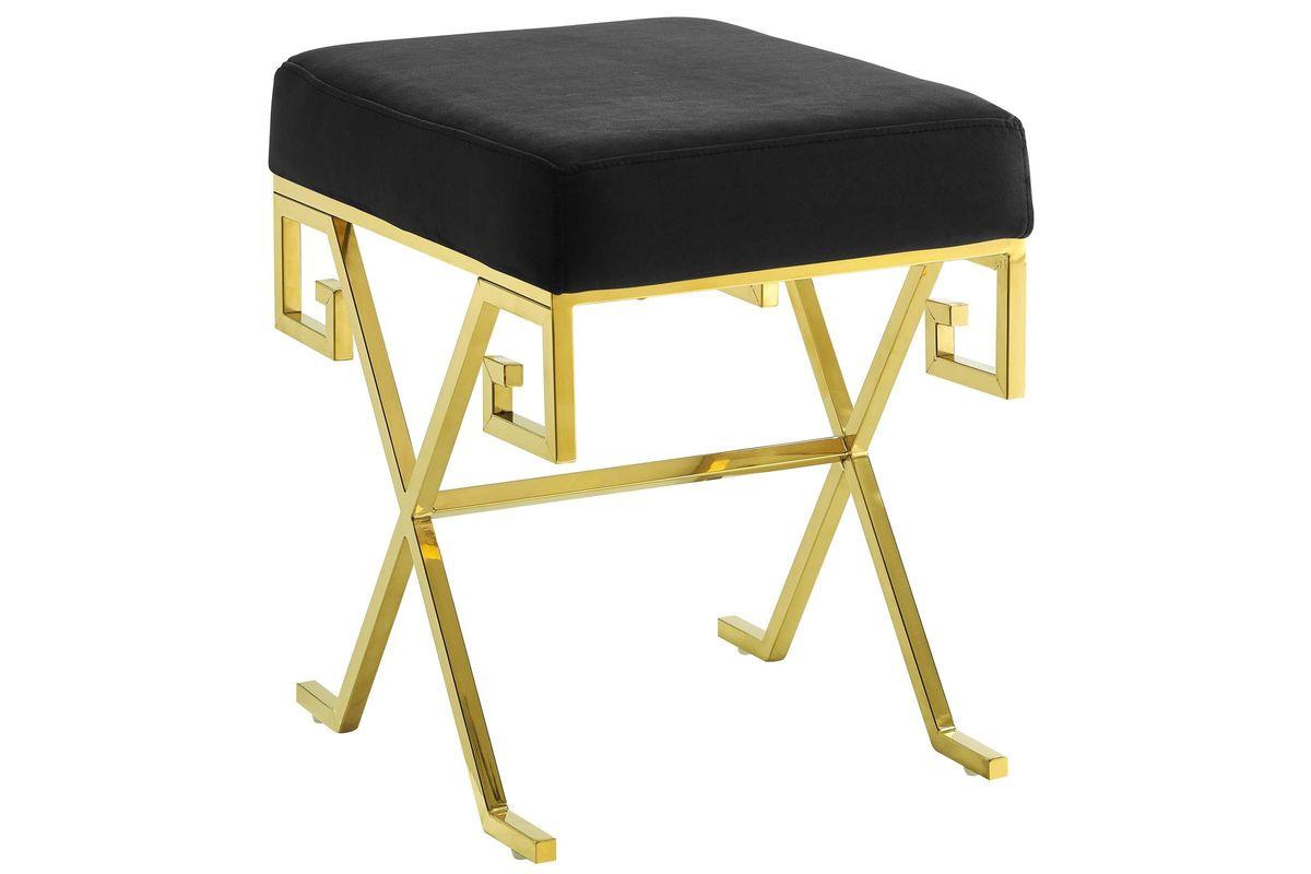 Twist Velvet Bench in Black by Modway from Gardner-White Furniture