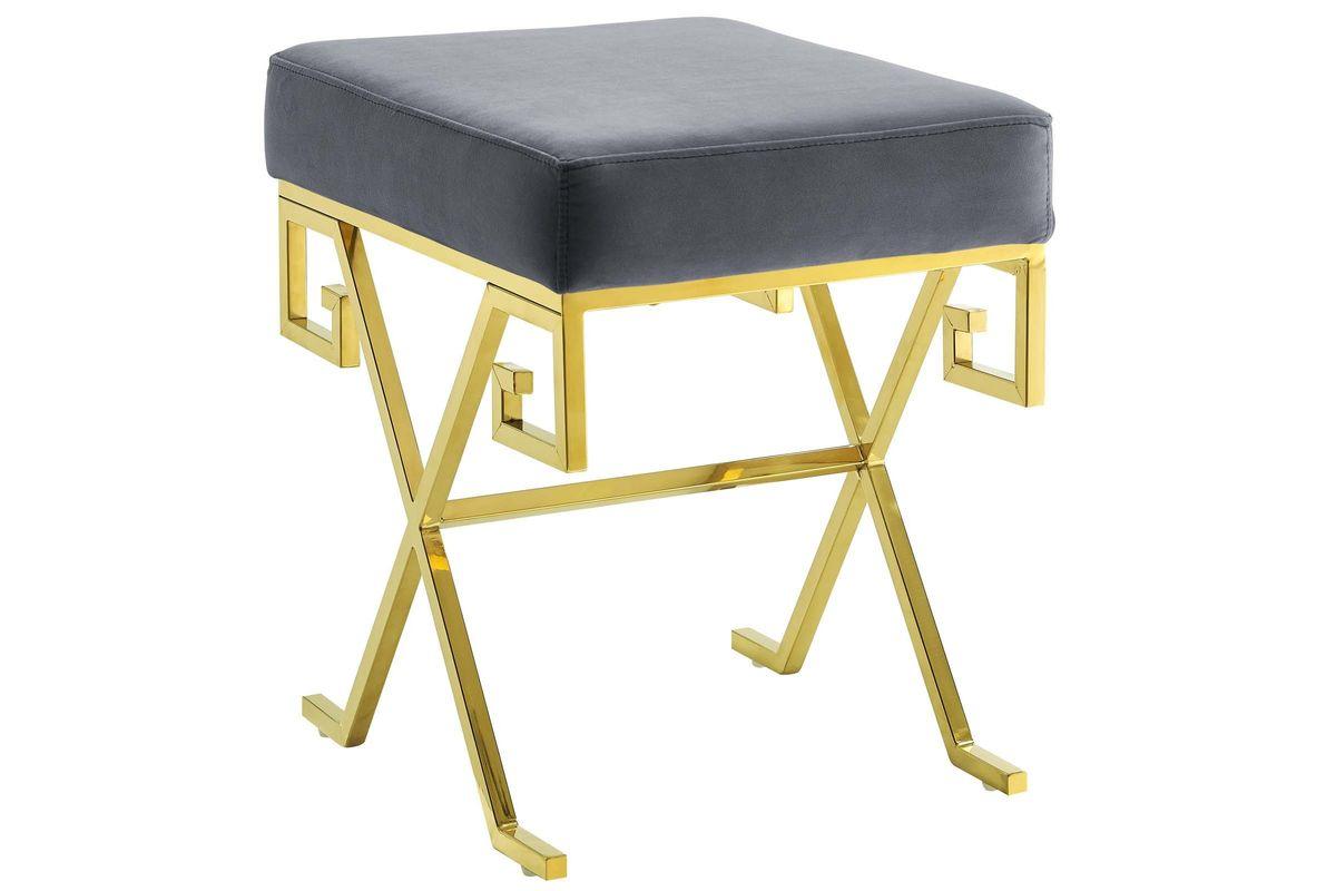 Twist Velvet Bench in Grey by Modway from Gardner-White Furniture